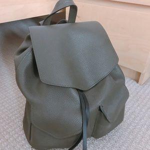 Zara leather backpack